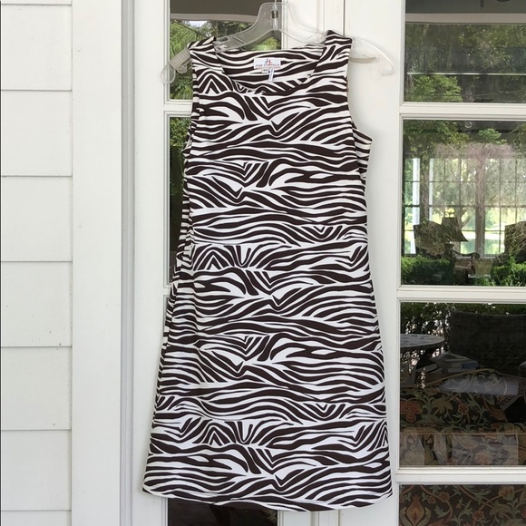 Jude Connally Dresses & Skirts - Jude Connally XS Brown & White Beth Dress